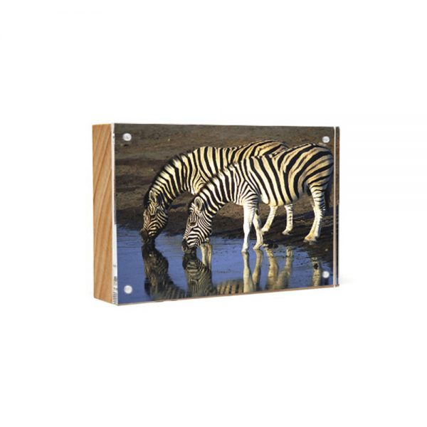Wood Back Magnet Frame - natural