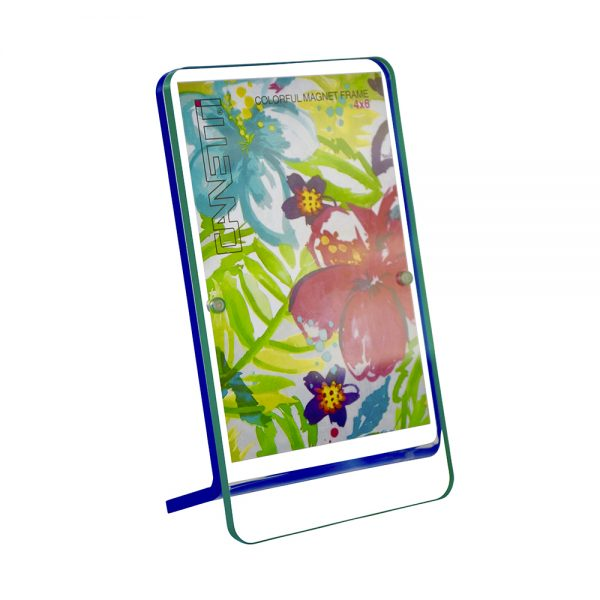 Colorful Magnet Frame - green & blue front view
