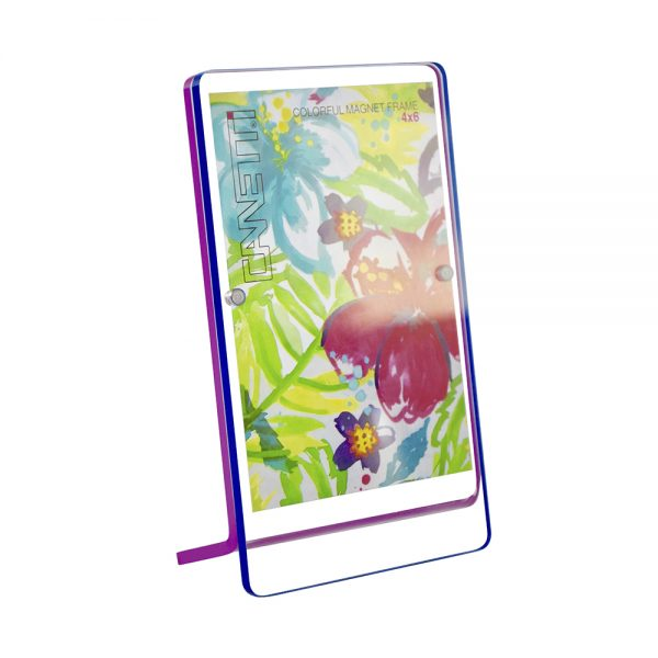 Colorful Magnet Frame - blue & purple front view