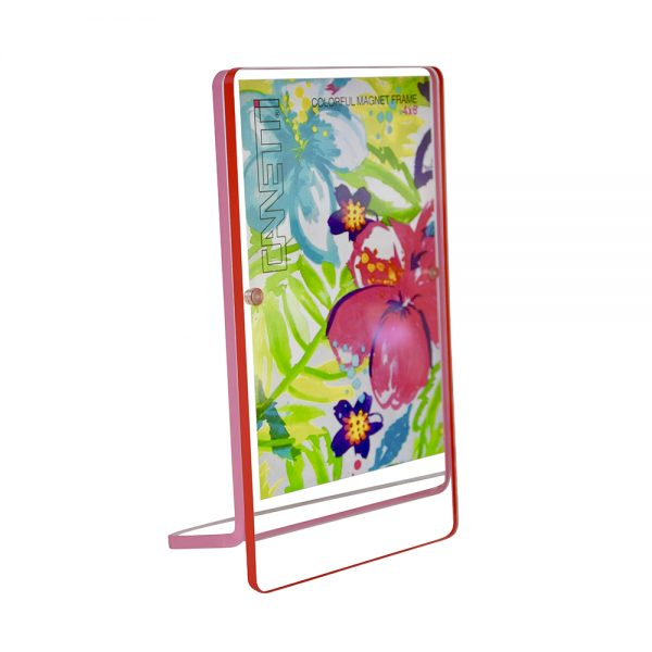 Colorful Magnet Frame - red & pink front view