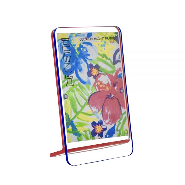 Colorful Magnet Frame - blue & red front view